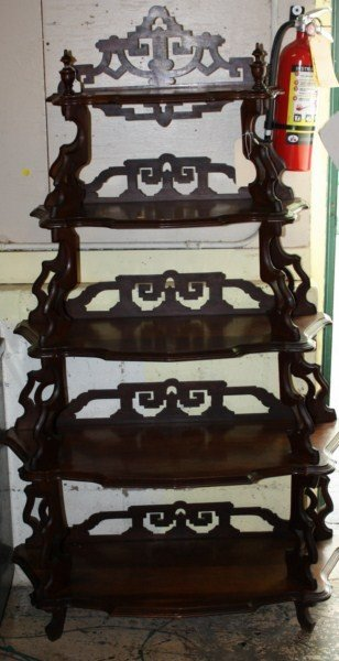 10: American Victorian mahogany etagere with pierced