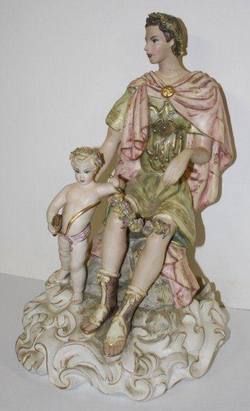 13: Capo di monte porcelain group