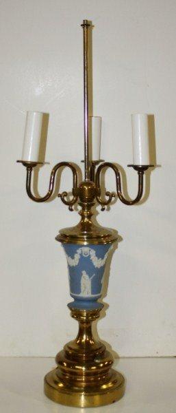 19: Wedgewood Jasperware lamp
