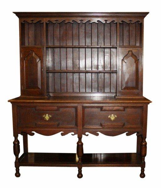 20: Welsh cupboard in oak