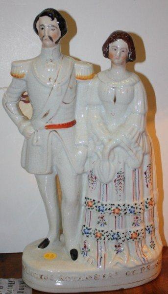 22: Staffordshire Royal figurines