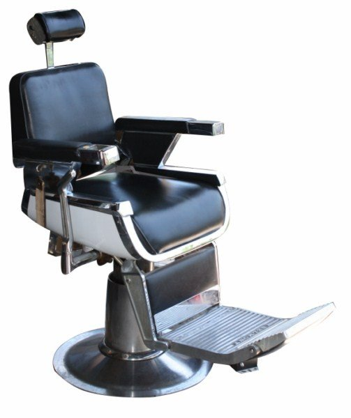 1962 Belmont barber chair with headrest