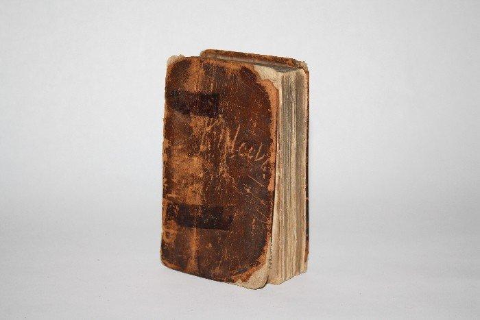 1: 1856 German leather bound bible
