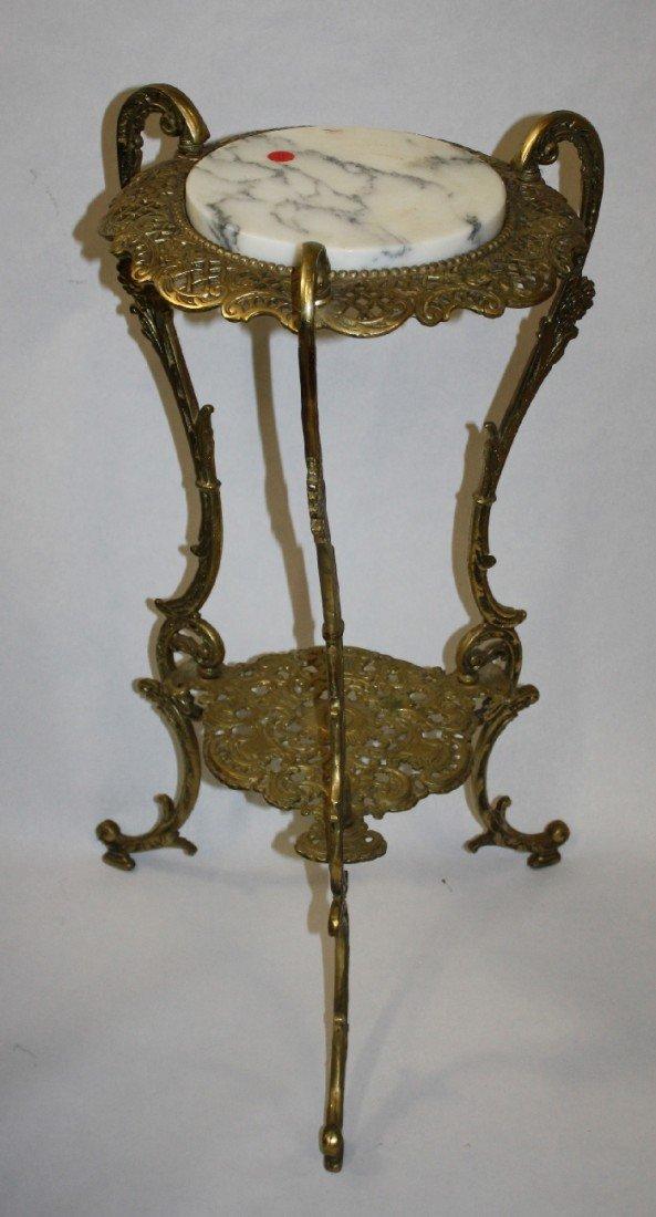 5: Victorian brass & marble top plantstand