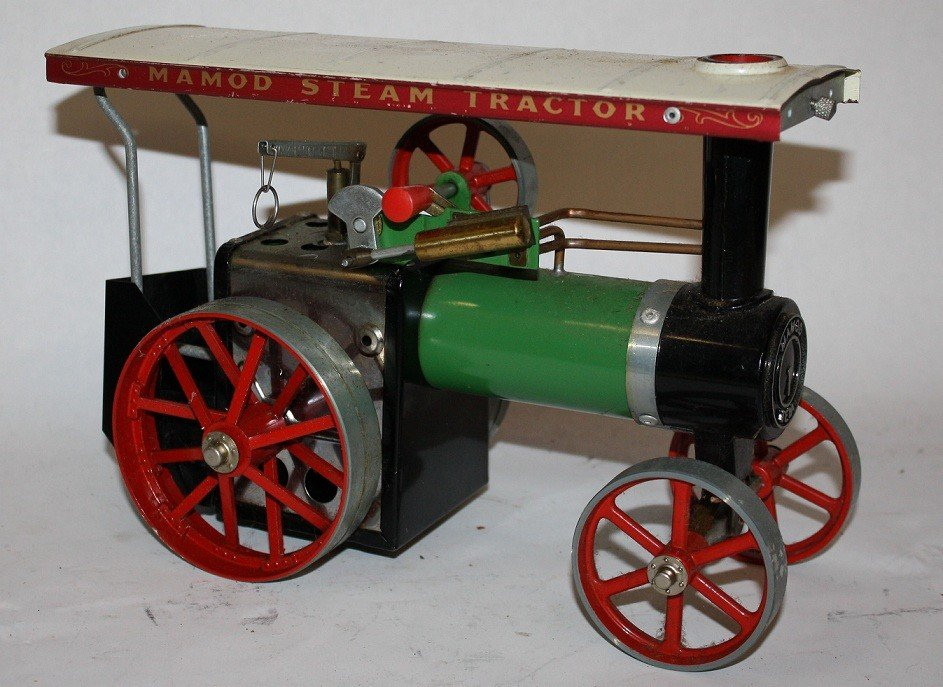 """7: Lot of 5 vintage steam toys :Mamod """"Steam Tractor""""  - 2"""
