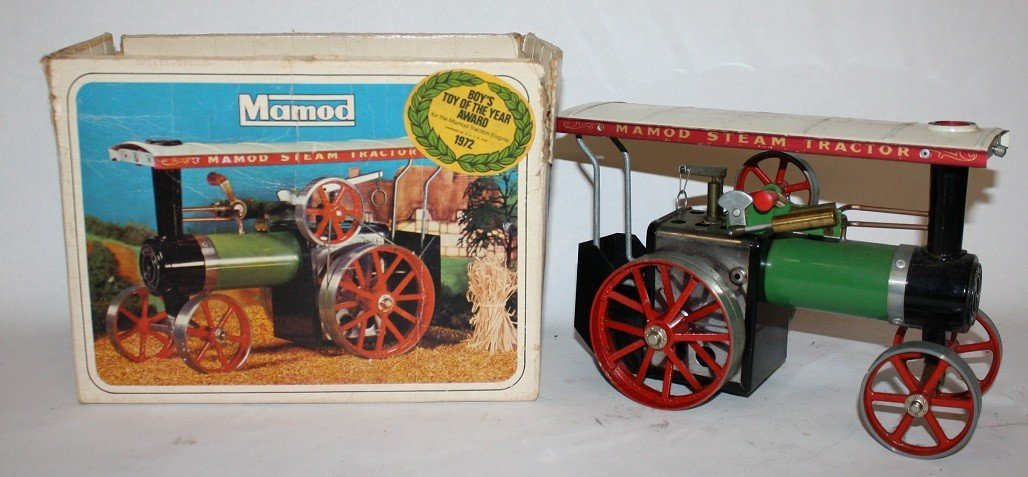 """7: Lot of 5 vintage steam toys :Mamod """"Steam Tractor""""  - 3"""