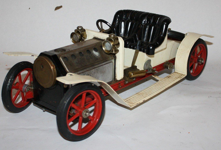 """7: Lot of 5 vintage steam toys :Mamod """"Steam Tractor""""  - 6"""