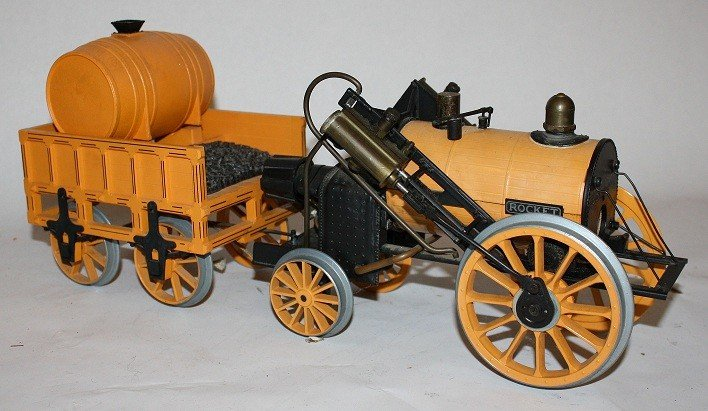 """7: Lot of 5 vintage steam toys :Mamod """"Steam Tractor""""  - 7"""