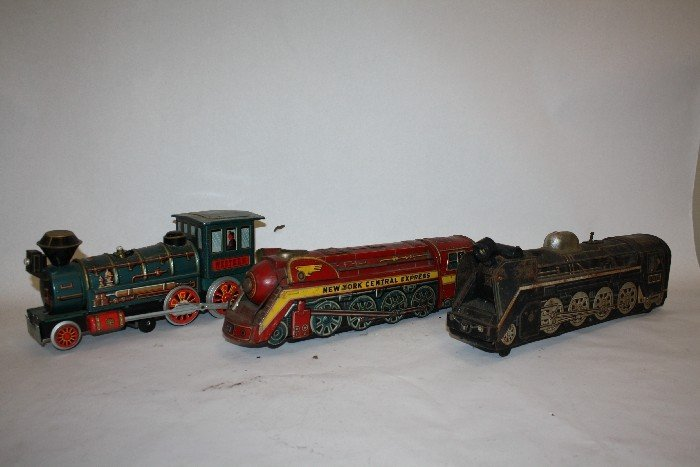 """9: Lot of 3  """"Western"""" New York central express trains"""