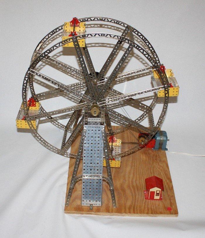 18: Ferris Wheel Erector Set model with tool box & part