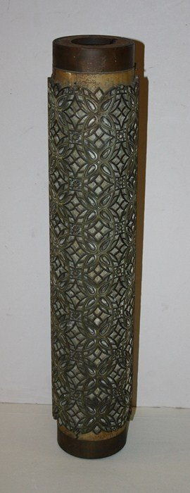 8: Bronze wall paper roll. Signed in roll with maker's
