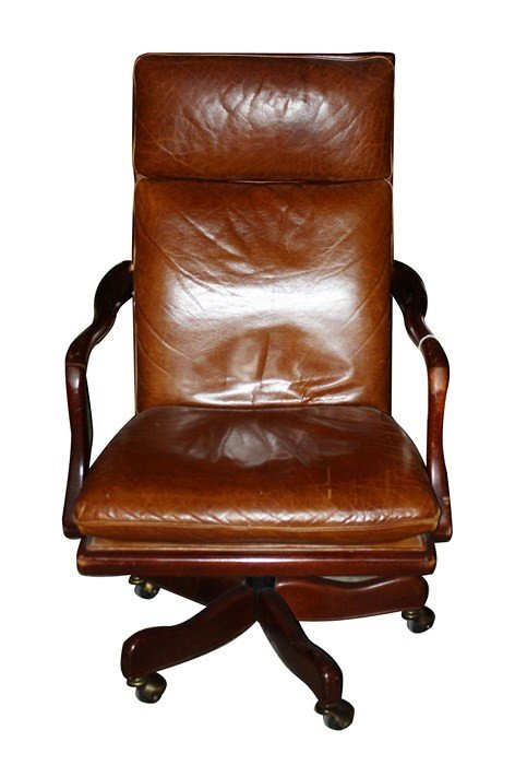 Hancock & Moore leather desk chair