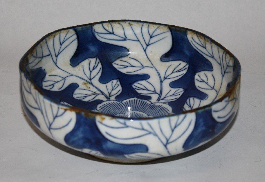 9: Blue & white Chinese bowl