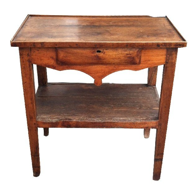 11: Louis Philippe side table with drawer