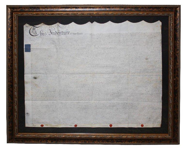 21: King George III signed indenture on vellum