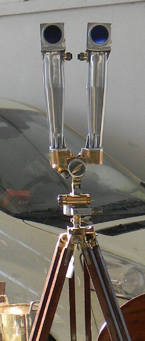 111: Rare French WWII era periscope on wooden tripod - 2