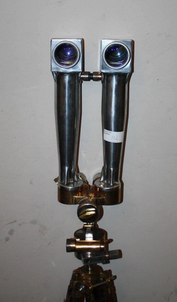 111: Rare French WWII era periscope on wooden tripod - 3