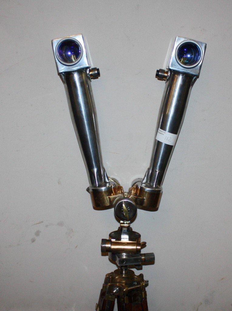 111: Rare French WWII era periscope on wooden tripod - 6