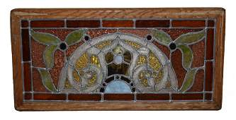 159: American Victorian stained & leaded glass window