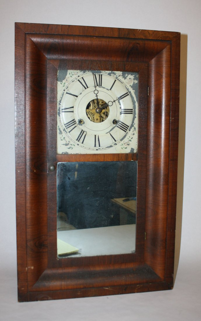 2: 1863 Seth Thomas mantel clock in tiger oak case