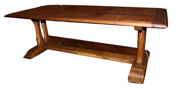 15: Rustic coffee table in walnut