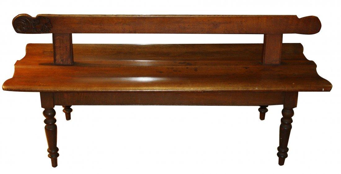 18: Double sided Alsacian train bench in oak