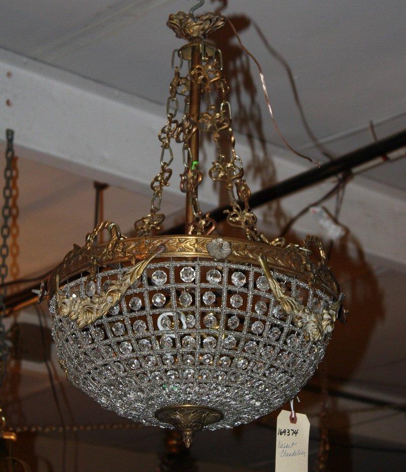 21: Louis XVI style basket chandelier with ribbon garla