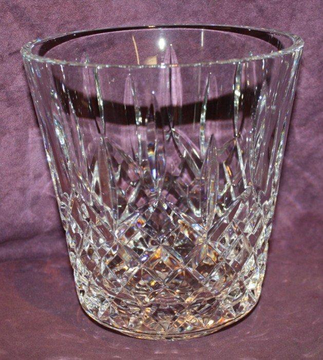 21B: Waterford cut crystal ice bucket