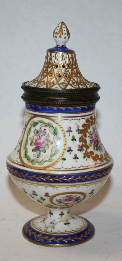 6: Sevres Louis XVI porcelain sugar shaker