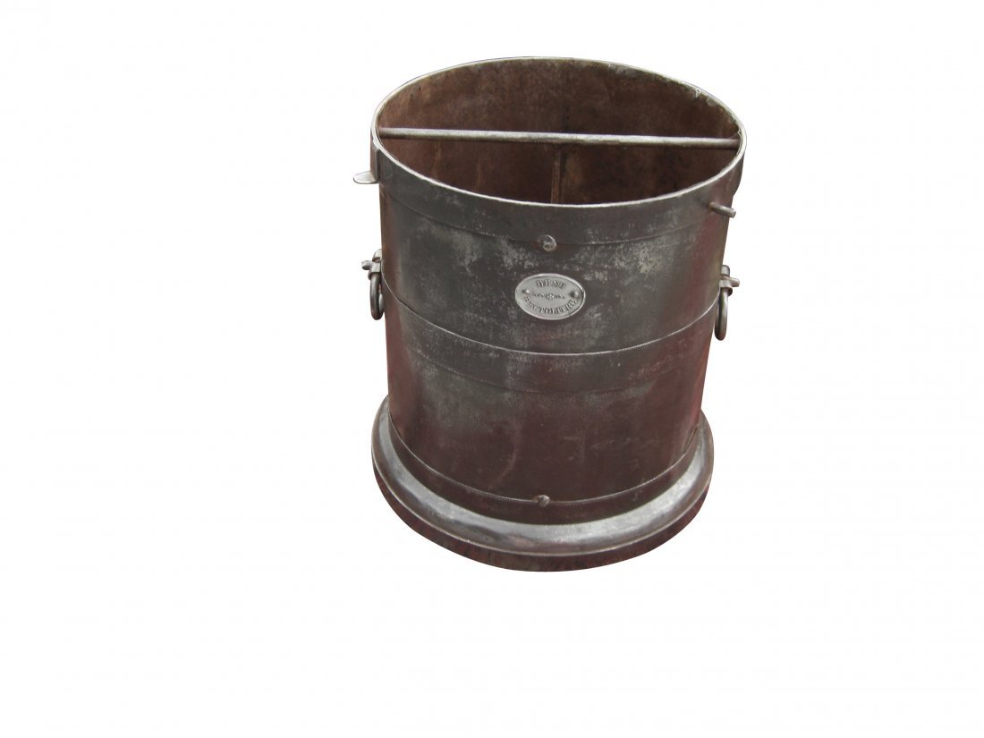 10: French wheat harvest bucket in iron