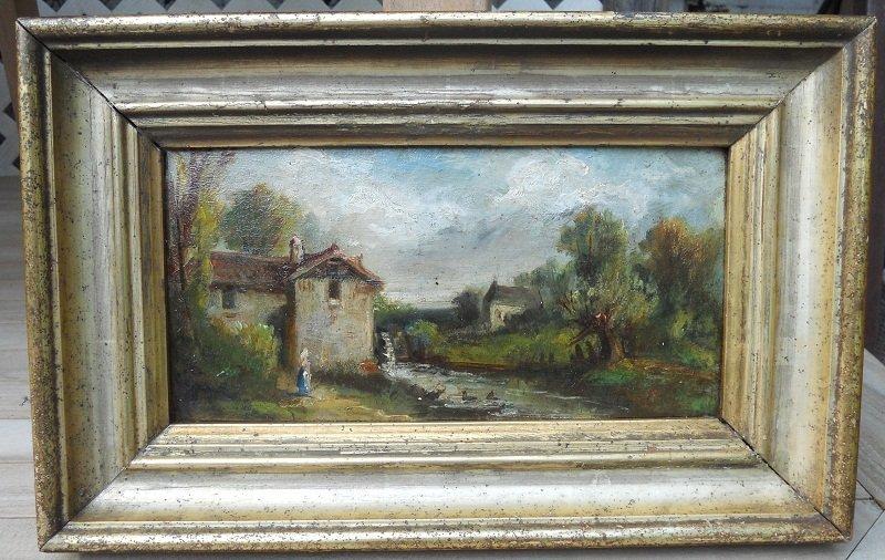 12: Oil on artist board-landscape