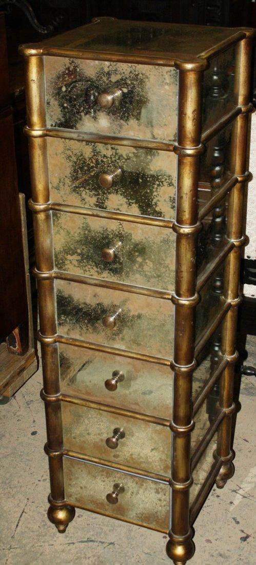15: Mirrored 7 drawer semainier chest of drawers