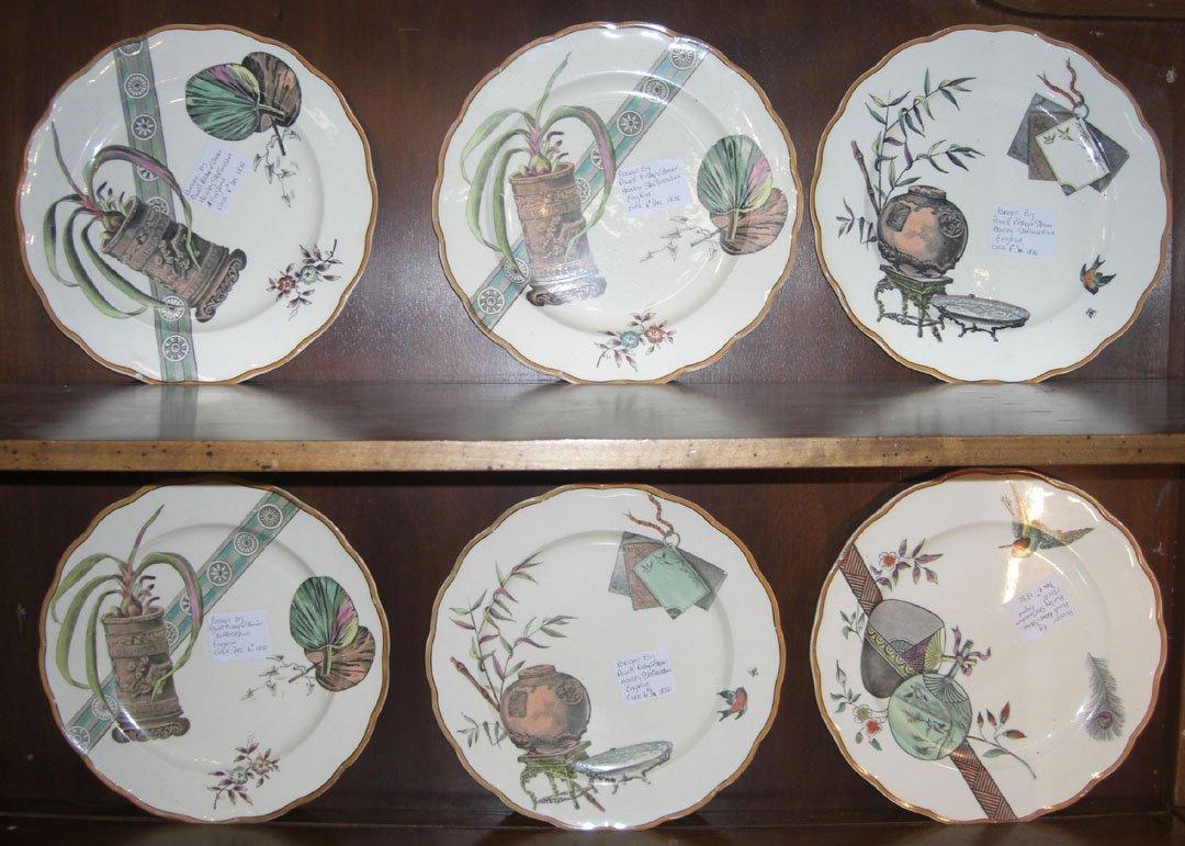 22: Lot of 6 English Staffordshire china