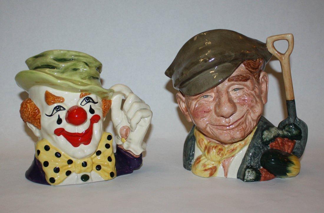24: Lot of 2 Royal Doulton character/Toby mugs