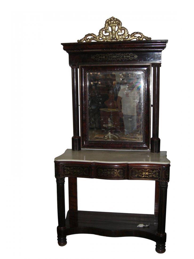 135: Spanish late 18th century bronze inlaid rosewood c