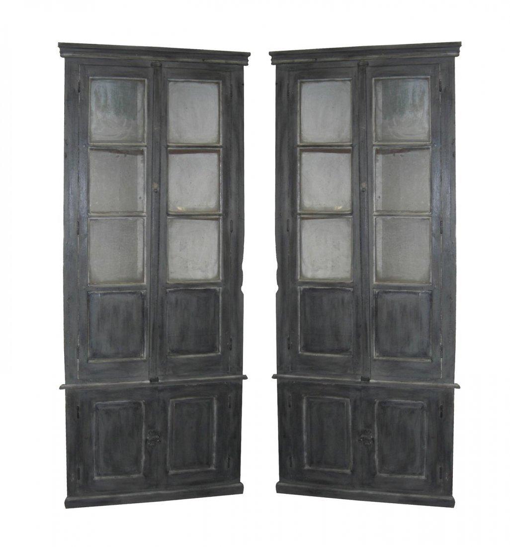142: Rare pair of period French Louis Philippe corner