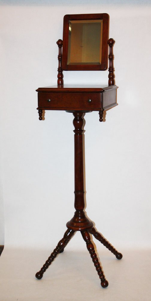 9A: American Victorian shaving stand in walnut