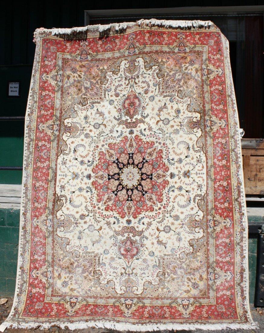 122: Persian silk & wool Tabriz rug