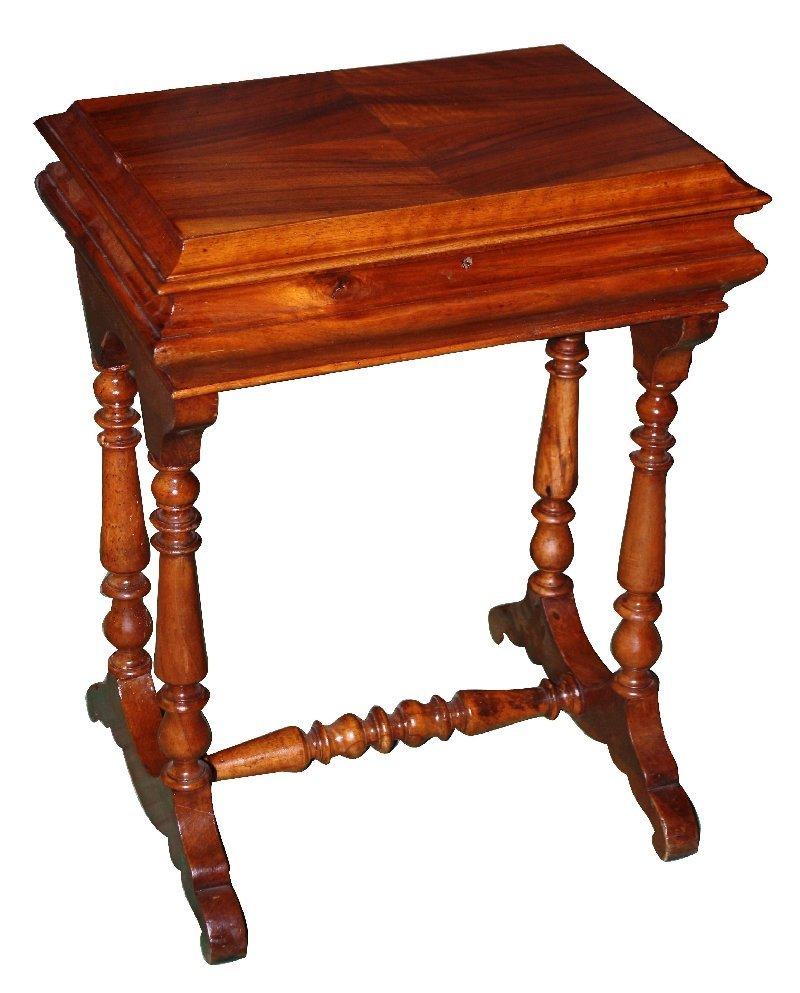 16: French Henri II walnut vanity cabinet on legs