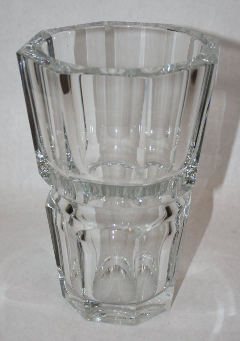 19: Baccarat crystal octagonal  vase