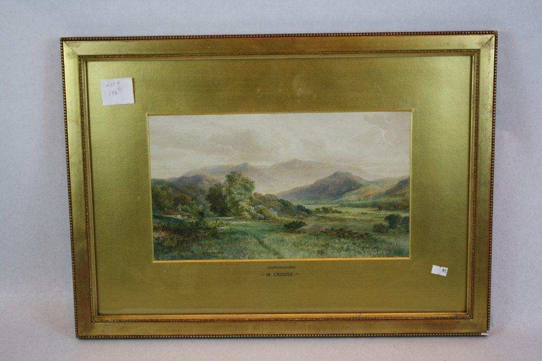 4A: English watercolor landscape signed Rothiemurchie