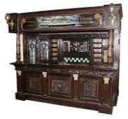 132 The Titanic Pub Hand carved mahogany canopy bar