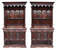 144: Pair of Mercier Freres Gothic Revival buffets