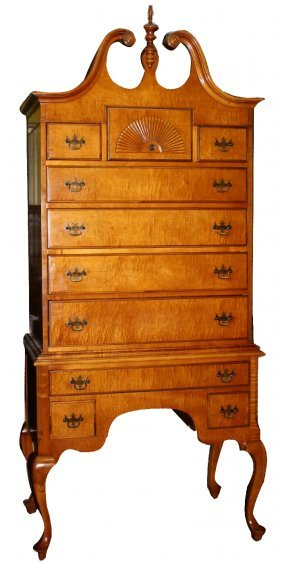 Mahogany Highboy Chest Of Drawers
