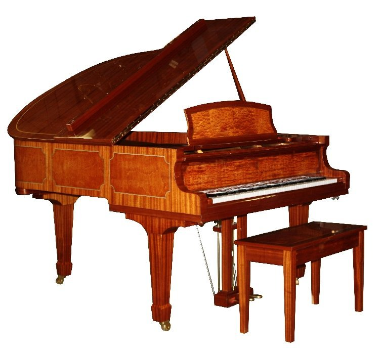 87: Story & Clark Cambridge baby grand piano with bench