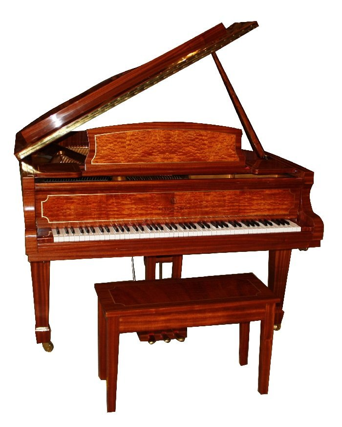 87: Story & Clark Cambridge baby grand piano with bench - 2