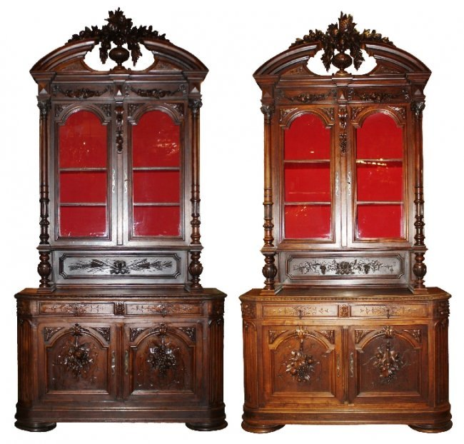 91: Pair of Grand Scale French Renaissance buffets