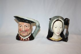 Lot Of 2 Royal Doulton Character Toby Mugs