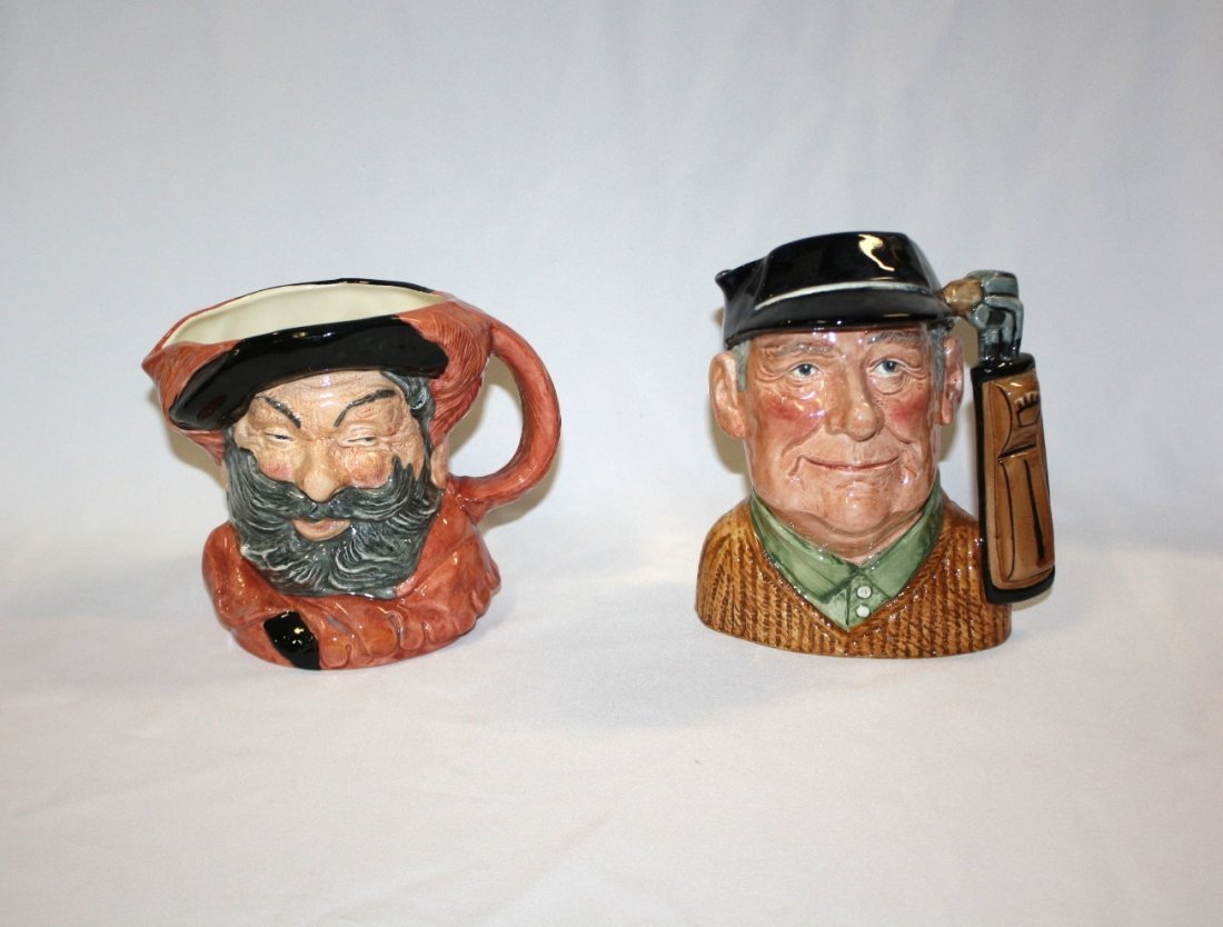 9C: Lot of 2 Royal Doulton Character Toby Mugs