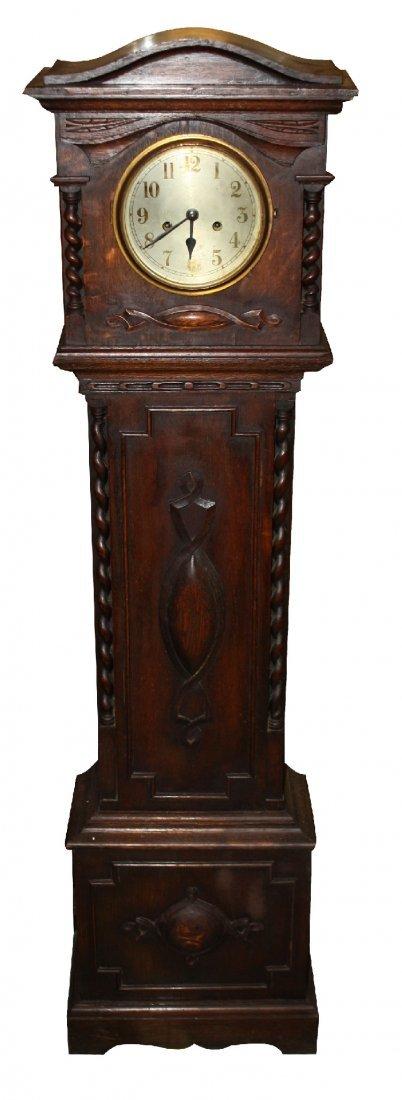 English granddaughter clock in oak